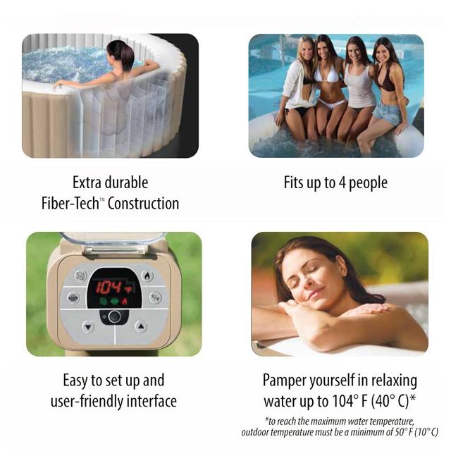 温度調節機能付き家庭用ジャグジー